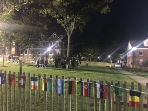 Over 21 students at beer garden at Homecoming block party