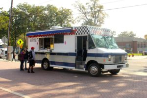 Mobile Diner food truck on campus