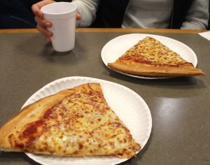 Two slices of south jersey pizza