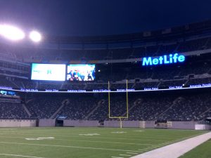 Inside MetLife stadium in northern NJ