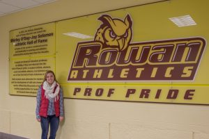 Student with Rowan Athletic Prof pride