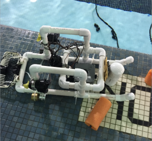 biomedical engineering major Haley Schappell's underwater remote operated vehicle