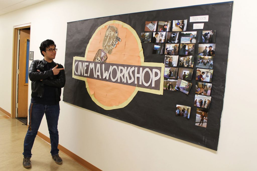 Rowan RTF Student Frank Villarreal is a member of Cinema Workshop