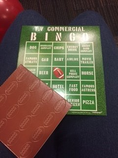 green TV commercial BINGO card