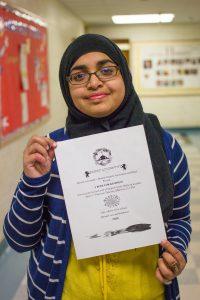 student and MSA poster