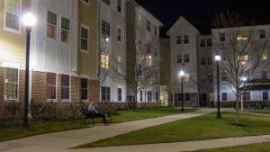 student outside Robo housing
