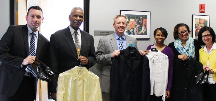 Office of Career Advancement holds garments from the Career Closet