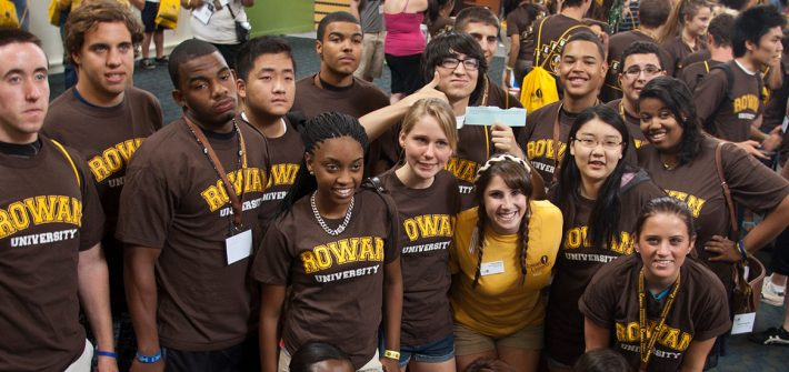 Rowan Students at the Orientation