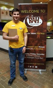 student worker at RAH event