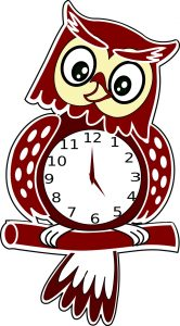 a clock in the shape of an owl
