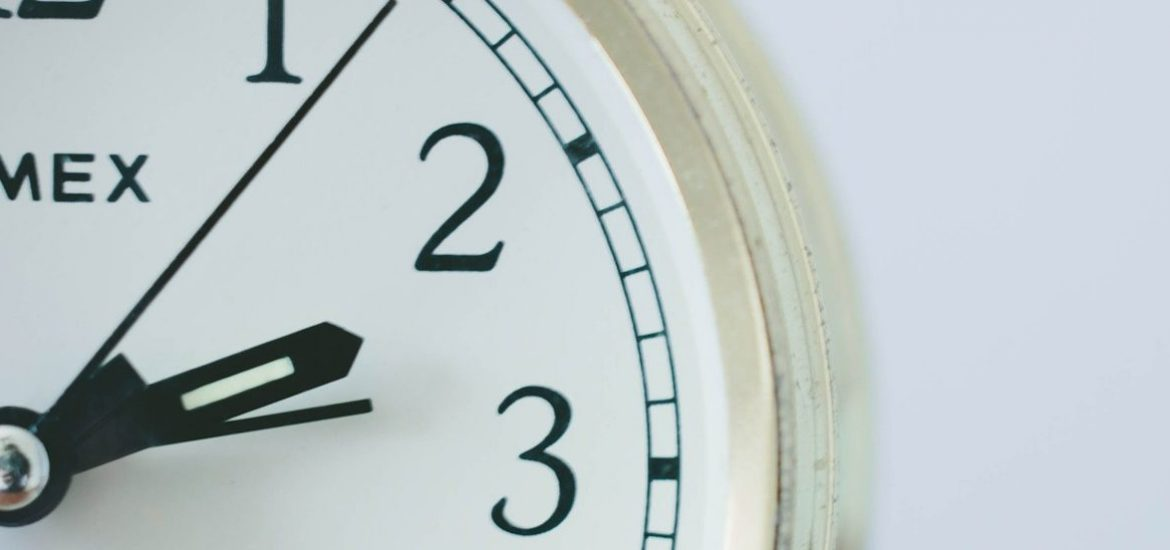 stay on time with this clock