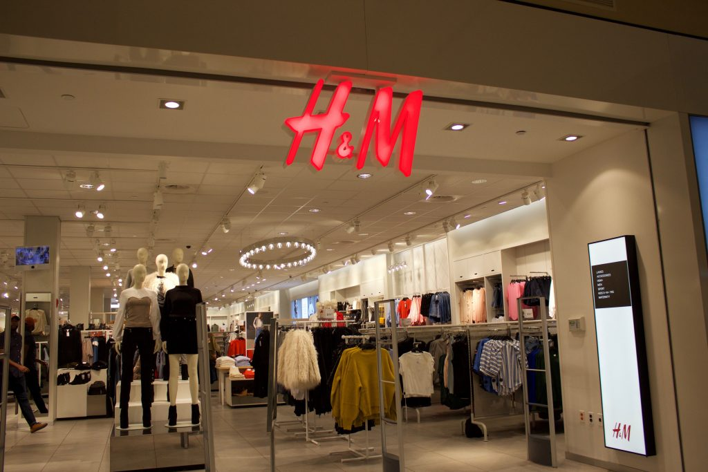 The front of the H&M store at the Deptford Mall.