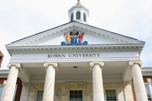 The front of Bunce Hall at Rowan University