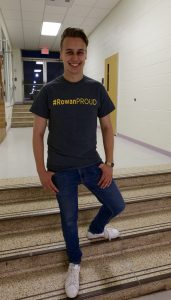 Evan in his #ROWANproud shirt