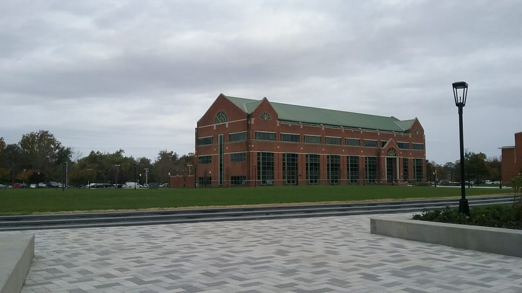 brick academic hall at Rowan College at Burlington County, partnership with Rowan University