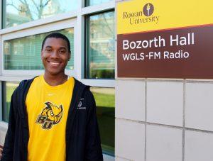 Nasir at Boz Hall where Rowan Radio is located