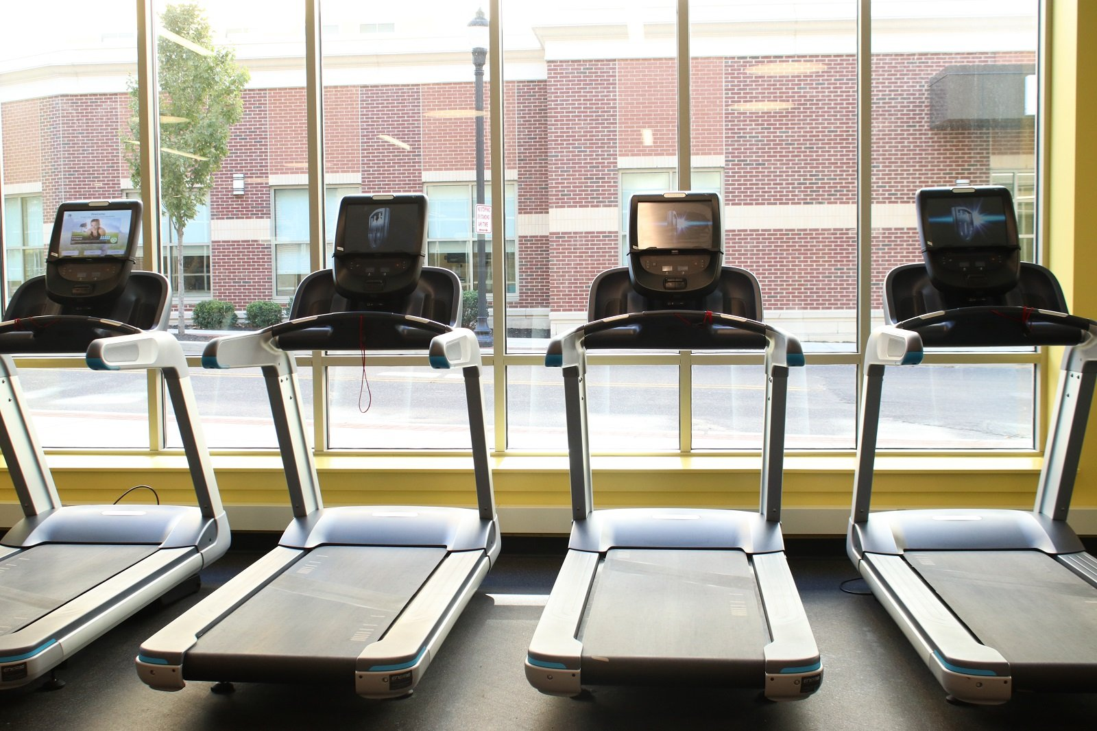 Treadmills at the new Rowan Fitness Center