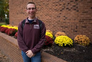 Kevin outside of Rowan University Wellness Center