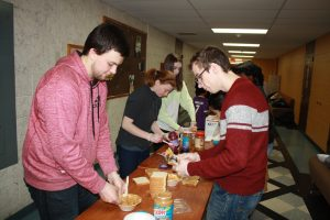 Students at last year's MLK Day of Service event at Rowan University