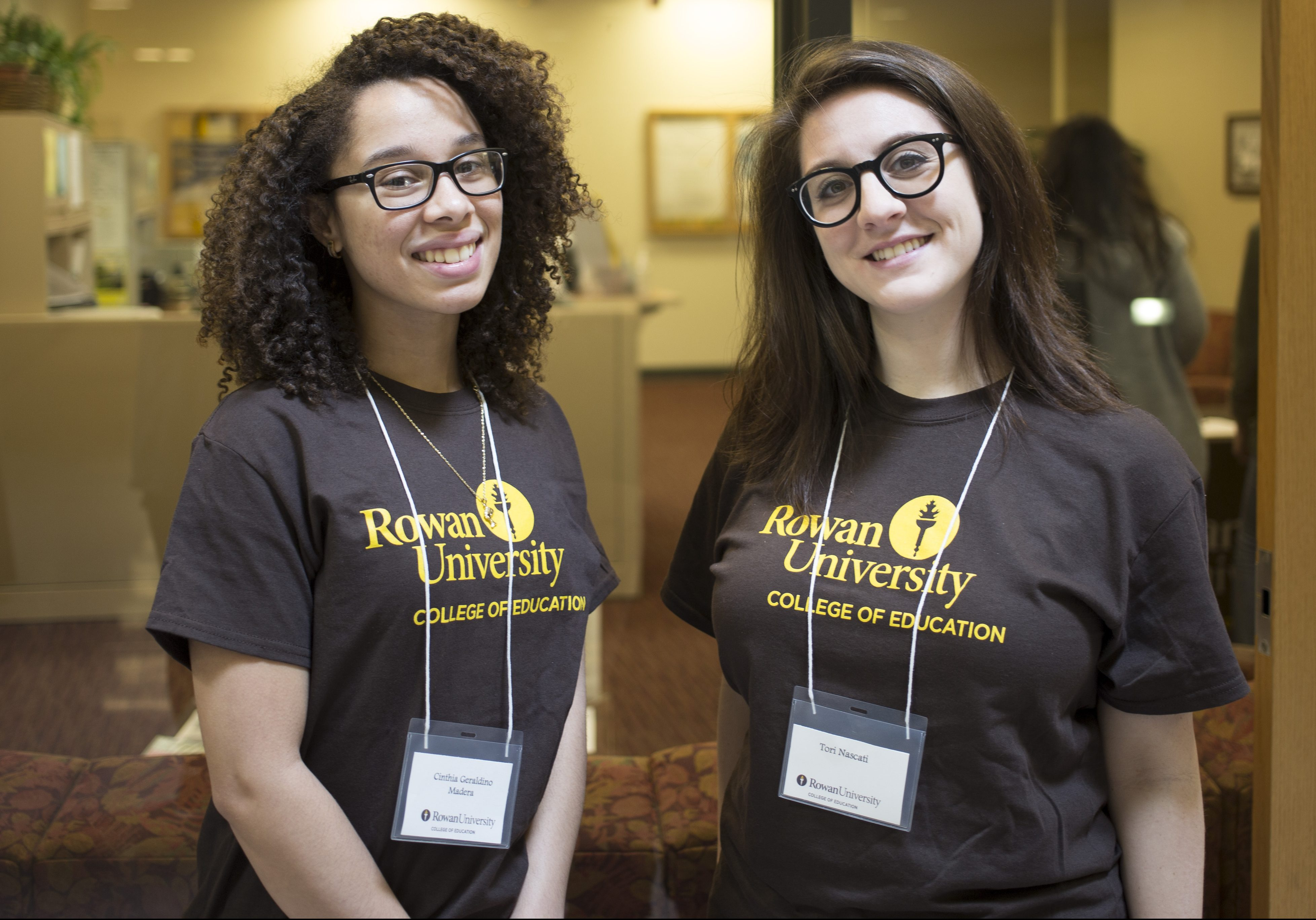 Two female student ambassadors for the College of Education