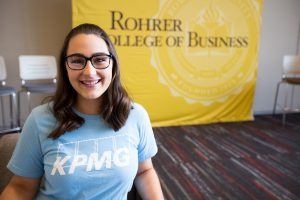Danielle inside Rohrer college of business