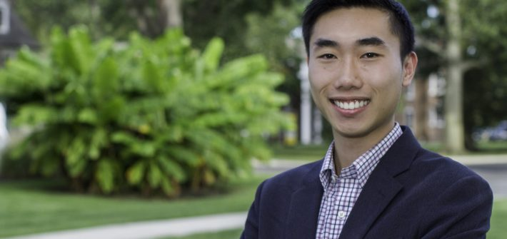 Tyler Jiang on Rowan Universitys campus