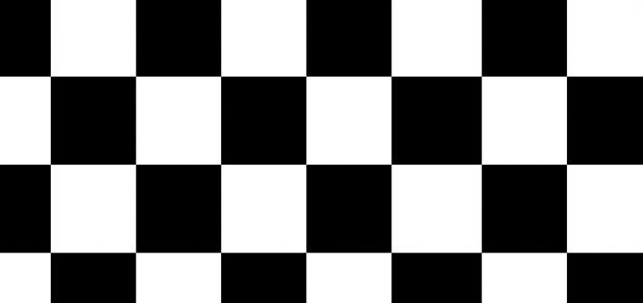 black and white checker background