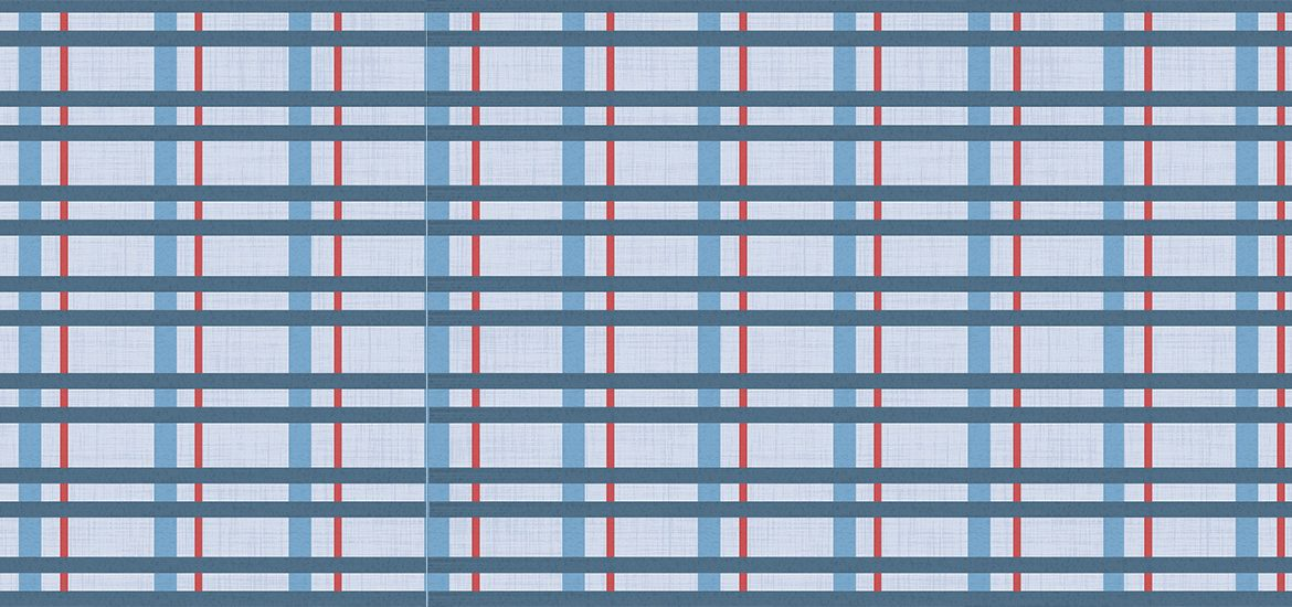 red, blue and white plaid design