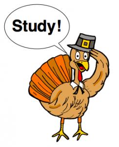 "turkey saying ""study!"""