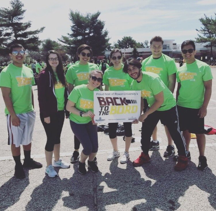 LIz stands with a group of 8 during a Back to the Boro event