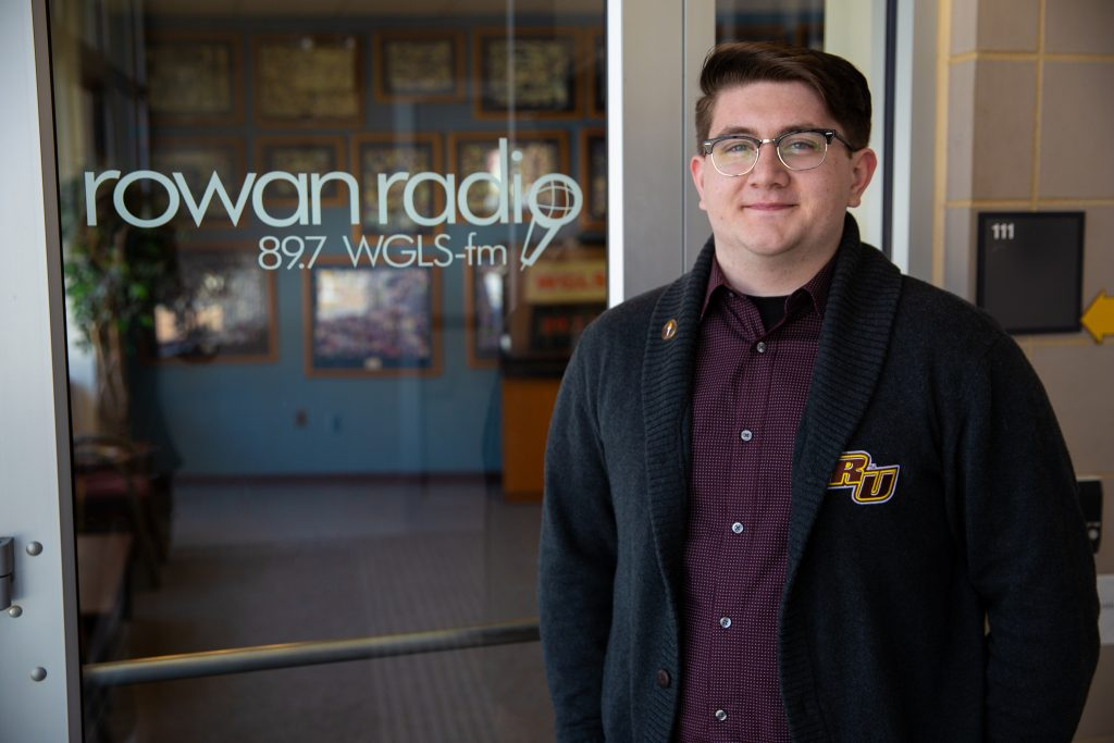 Brandon at Rowan Radio inside