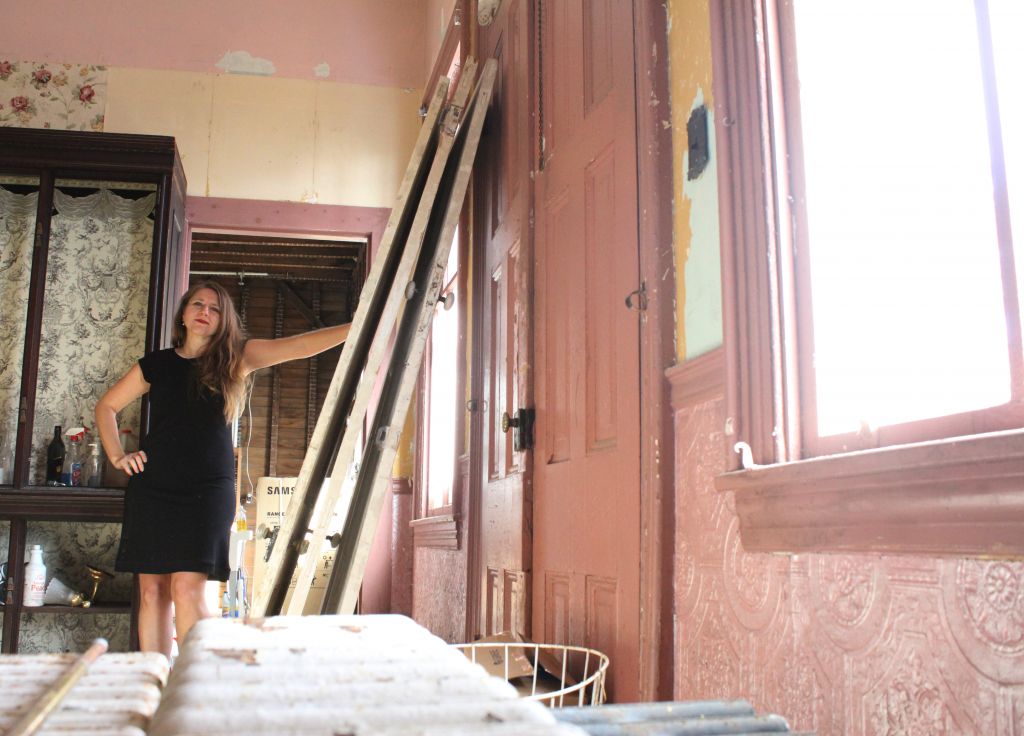 photo Kailey took of female standing inside old hotel building in Cape May