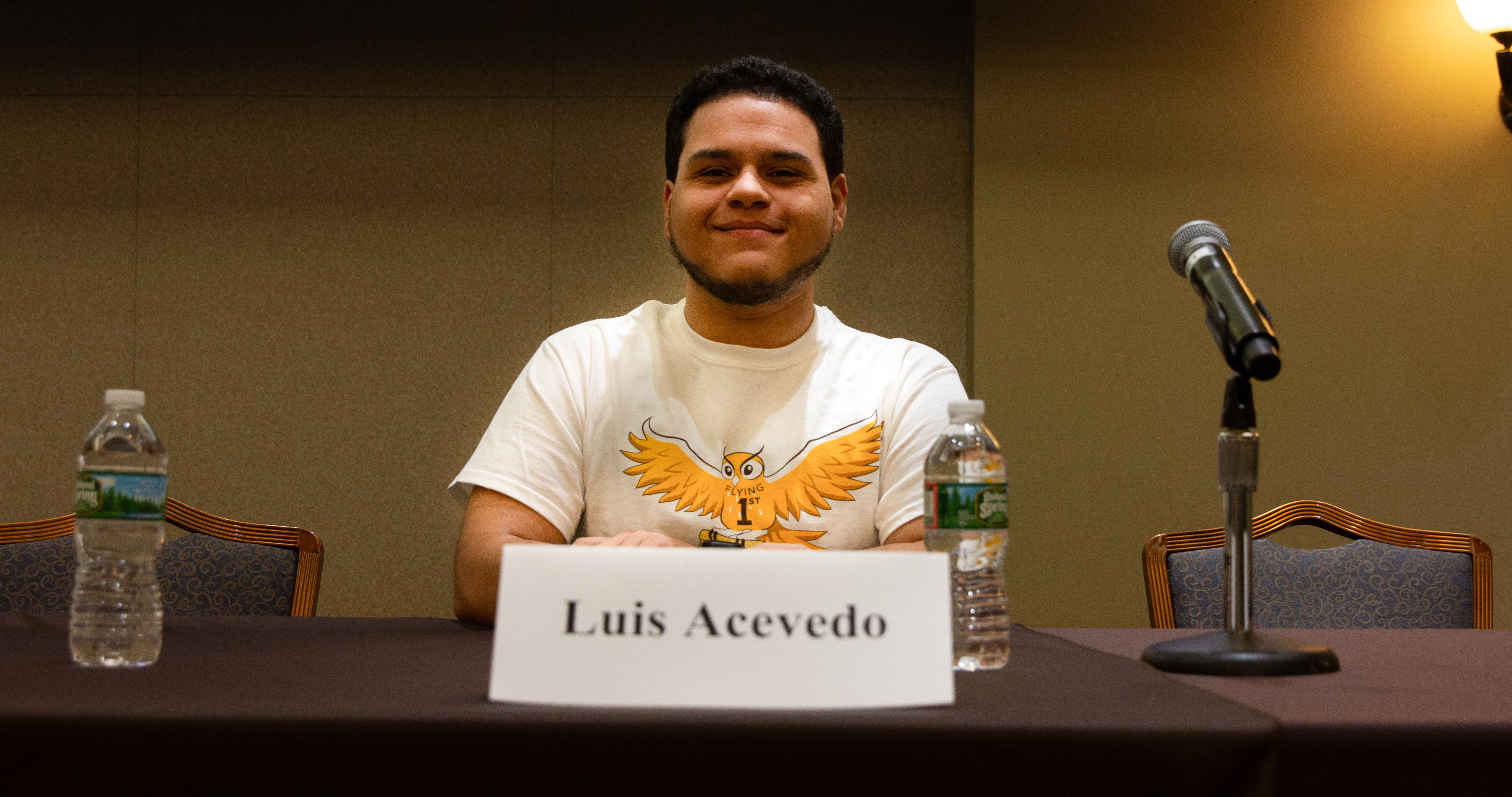 Luis speaking at the First-Generation Student Symposium on Feb. 13, 2019 at Rowan University.