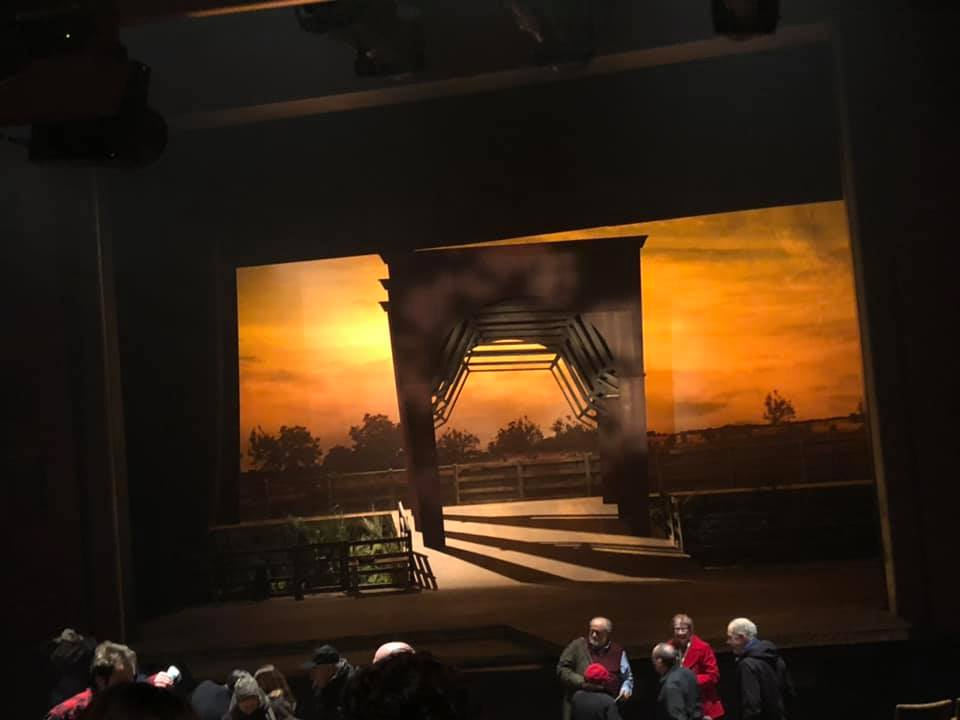The stage of the Bridges of Madison County musical in Philly