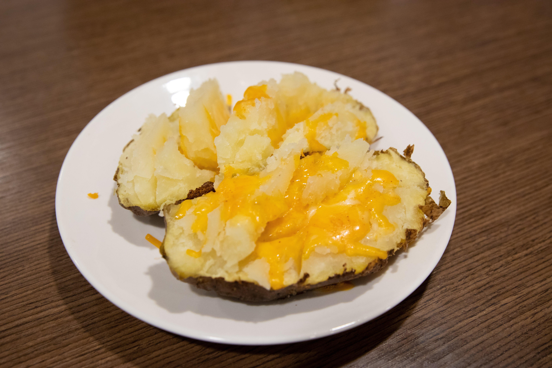 Finished baked potato.