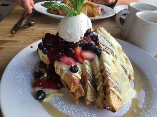 french toast from Green Eggs Cafe in Philly