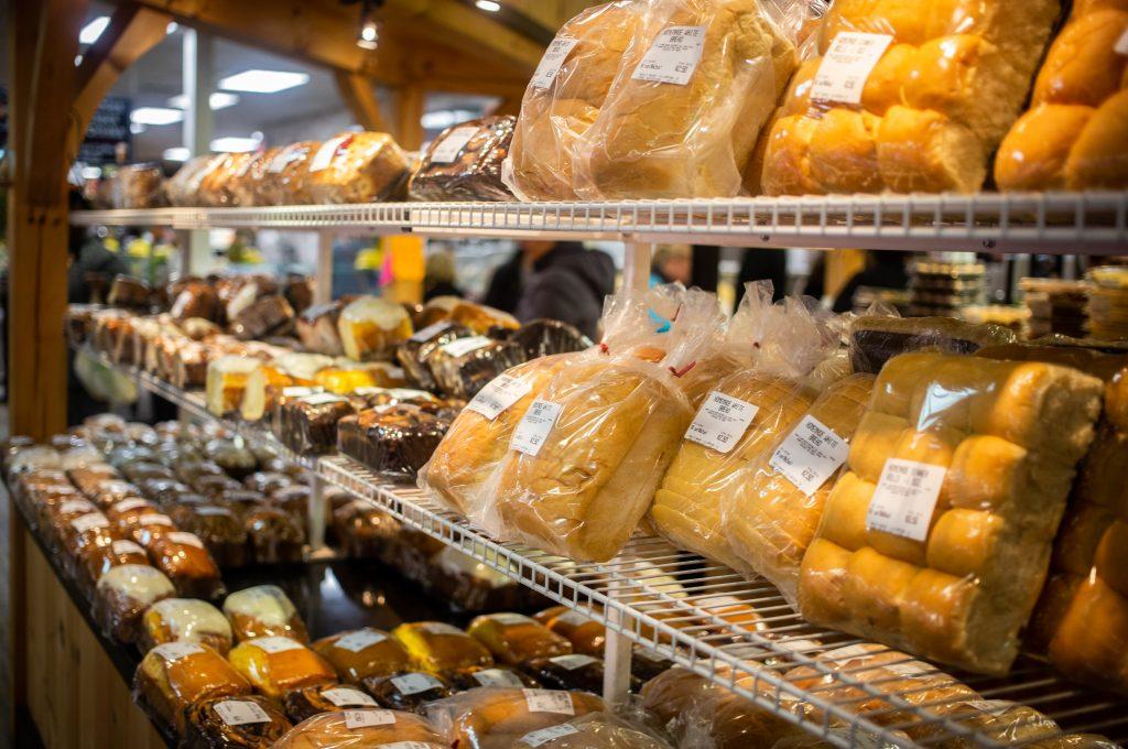 baked rolls inside Farmer's Market
