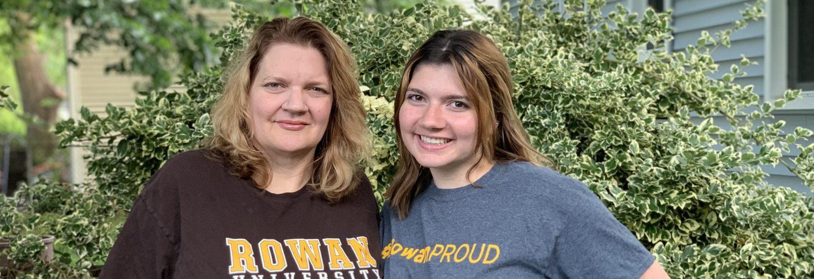 Lauren and her mother in rowan shirts