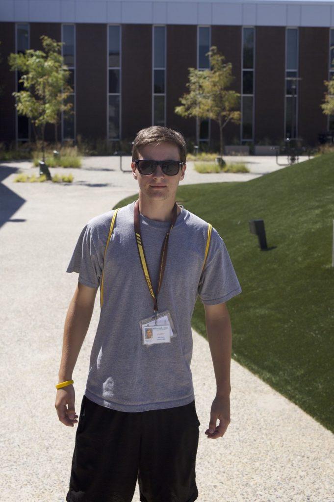 Future freshman Nikolas Vasiliadis at Rowan Choice orientation