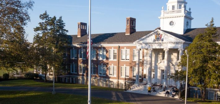 Wideshot of the front of bunch hall