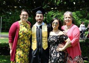 Rowan alumna Calista Condo with her relatives, who are also graduates of Rowan
