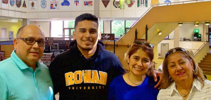 Esteban with his family at PCI orientation