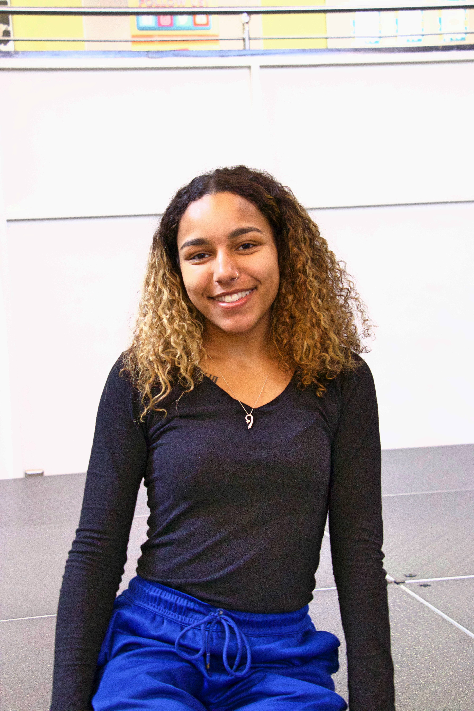 Future Rowan freshman Natalie Rojas in the Chamberlain Student Center