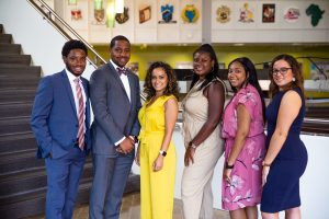 Rowan alumnus Minelson Louis-Baptiste with fellow PCI graduates at the Student Leadership Conference