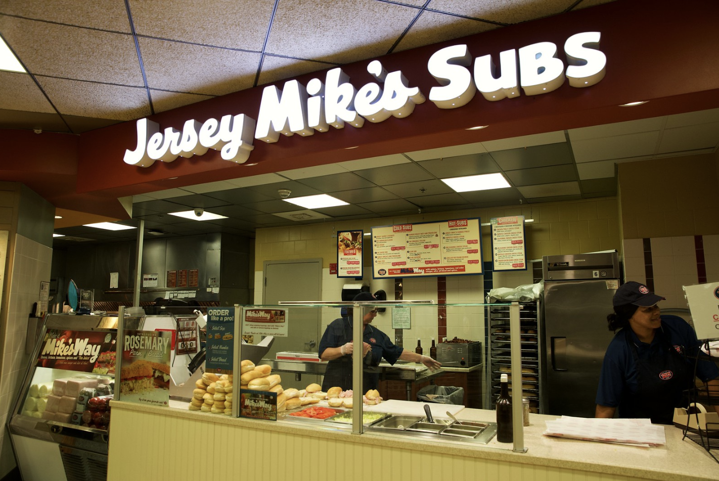 Photo of Jersey Mike's Subs in the Student Center at Rowan University.