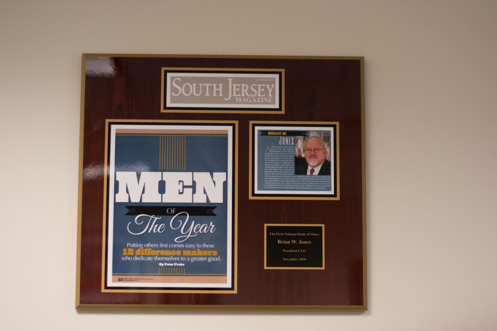 "The plague for ""Men of the Year"" in Brian Jones' office"