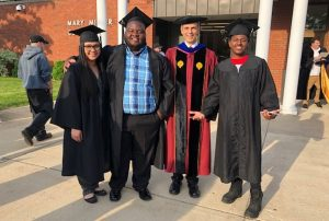 Rowan alumnus Dr. Stephen Nacco (second from right) at Danville Area Community College, where he is president
