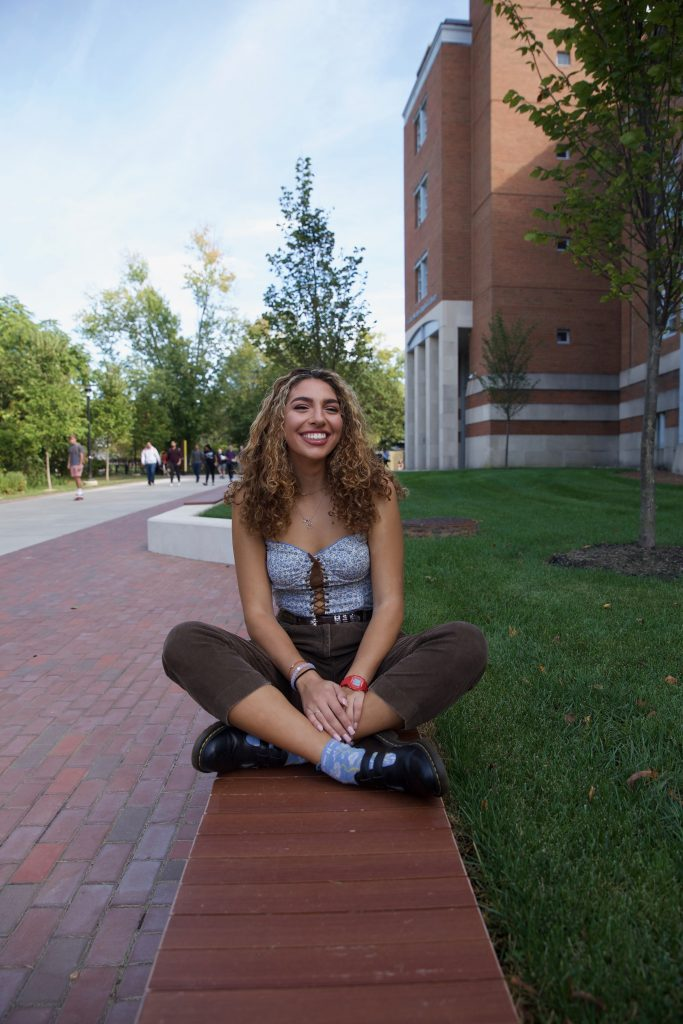 Psychology major Gianna Witasick, photographed outside on Rowan's campus, shares what she's listening to at the moment