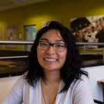 Bioinformatics major Anne Marie Fernandez photographed inside Chamberlain Student Center