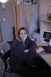 Taylor Negalaski at her desk